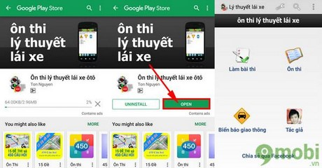 on thi ly thuyet lai xe o to cho android