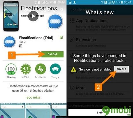floatificationsthong bao tren android