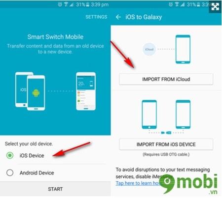 Sao lưu tin nhắn iPhone 6s sang Android, Samsung, Oppo