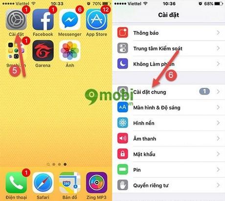 nang cap ios 10 beta cho iphone ipad