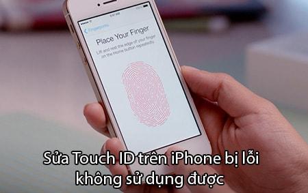 Sua Touch ID tren iPhone bị loi