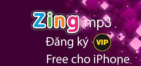 dang ky Zing MP3 vip Free cho iPhone