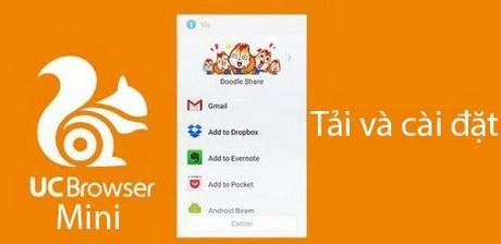 tai va cai dat uc browser mini tren dien thoai Android