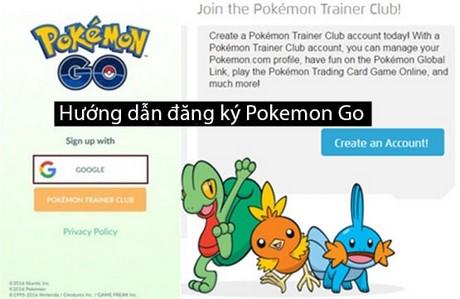 huong dan dang ky Pokemon go trainer club