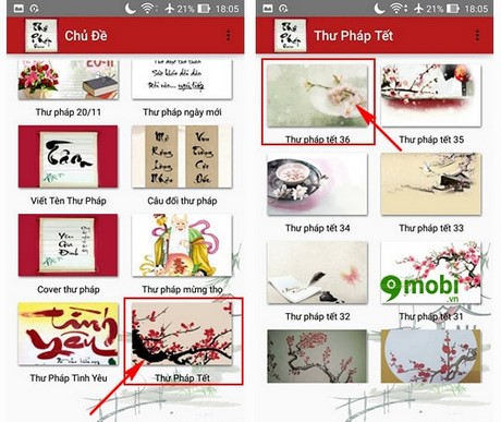 thu phap online cho android