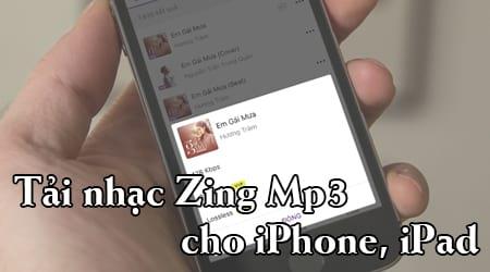 tai nhac zing mp3 cho iphone