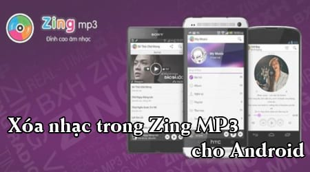cach xoa nhac trong Zing mp3 cho android