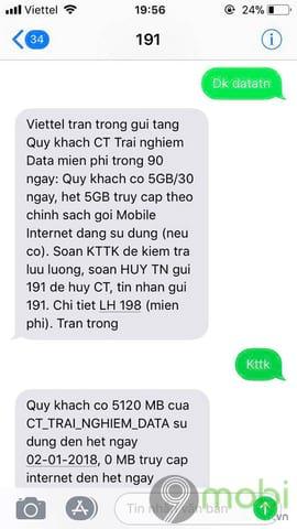 huong dan nhan 15gb data 4g mien phi viettel cho moi thue bao