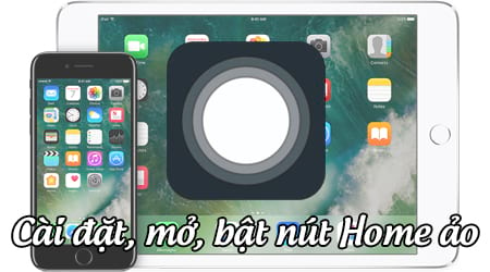 bat nut home ao tren iphone