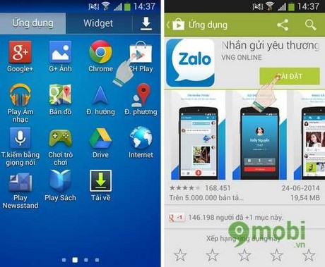 cach su dung zalo tren android