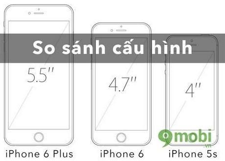 so sanh iphone 5s, iphone 6 và iphone 6 plus, so sanh iphone 5 va 5s