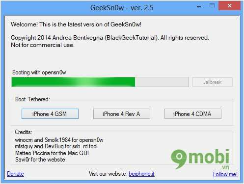 Hướng dẫn Jailbreak iOS 7.1.1 cho iPhone 4