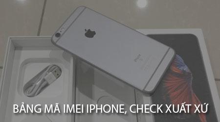 bang ma iMei iPhone