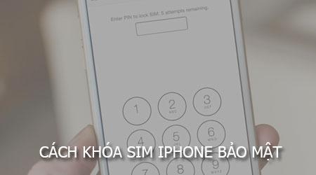 khoa sim iPHone