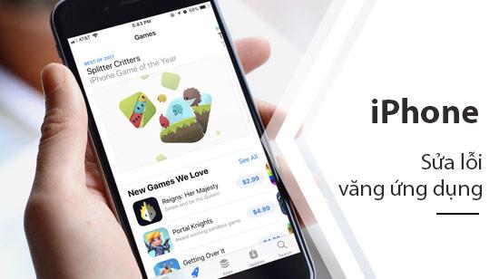 loi vang ung dung tren iPhone