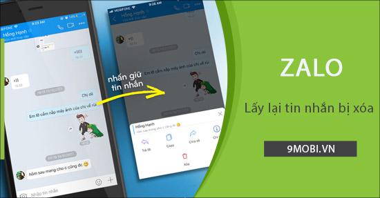 Cách lấy lại tin nhắn Zalo bị xóa trên điện thoại iPhone, Android