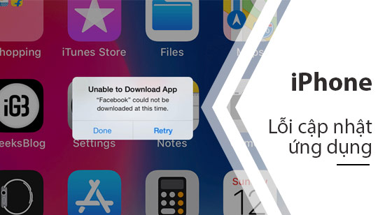 khong update duoc ung dung iphone