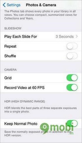 m quay video 60fps tren iphone 6