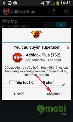 tat quang cao khi vao web cho android