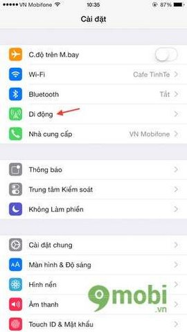 khac phuc loi mat diem truy cap ca nhan tren ios 8 dien thoai iphone 6 plus, 6, ip 5s, 5, 4s
