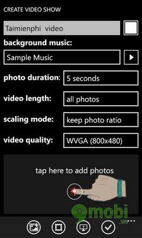 cach lam video tu anh tren windows phone 8.1