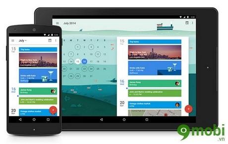 tai google calendar cho android, ios