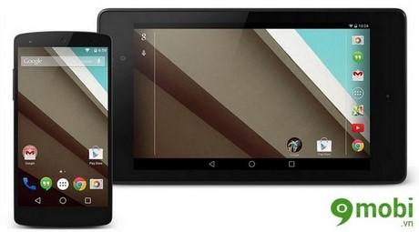 hoan cap nhat android 5.0 cho nexus 4 va nexus 5