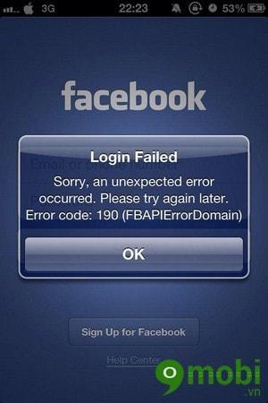 sua loi 109 facebook