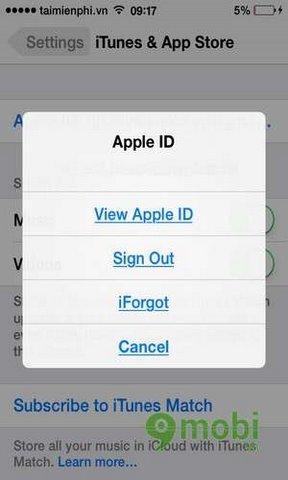 thay doi apple id tren ipad