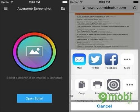 cach dung awesome screenshot for safari tren iphone 6 plus, 6, ip 5s, 5, 4s