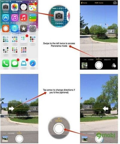 huong dan chup hinh panorama tren iphone