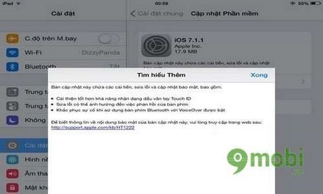 iOS 7.1.1 co the tang dang ke thoi luong pin