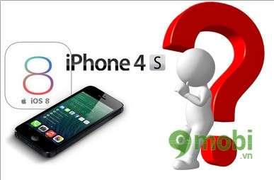 co nen cap nhat ios 8 cho iphone 4s
