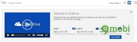 Nâng cấp OneDrive lưu trữ 8GB