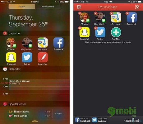 notification center widgets mien phi cho ios 8