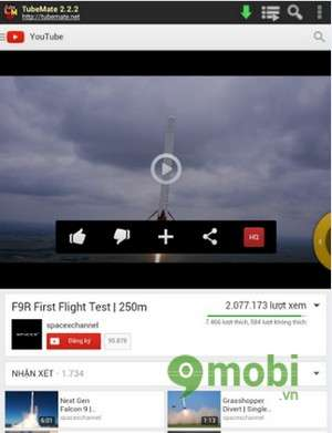 Tải video cho điện thoại Android