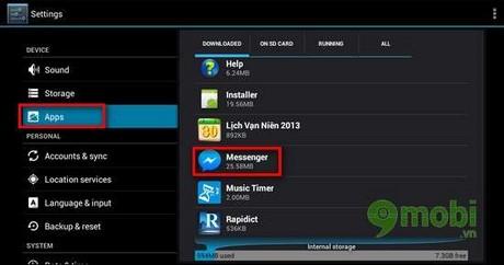 Thoát tài khoản Facebook Messenger trên Android