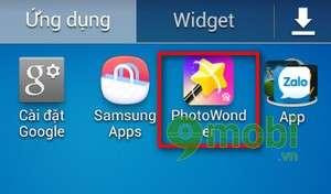 Tấy nốt ruồi bằng Photowonder trên Android