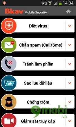 phan mem Bkav Mobile for Android