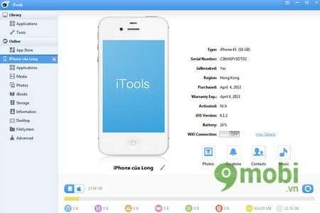 iTools - Xóa, gỡ bỏ ứng dụng trên iPhone