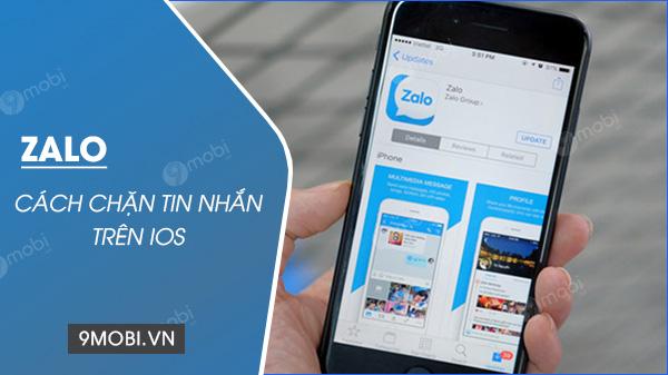 Chan tin nhan tren Zalo tren dien thoai iOS